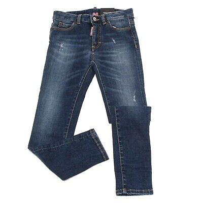 8062T jeans bimba DSQUARED2 MEDIUM WAIST TWIGGY JEAN blu jean kid