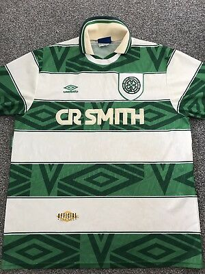 Celtic Home Shirt 1993/95 X-Large Rare And Vintage