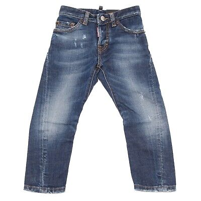 8053T jeans bimbo DSQUARED2 STRETCH KENNY TWIST JEAN blu denim jean kid