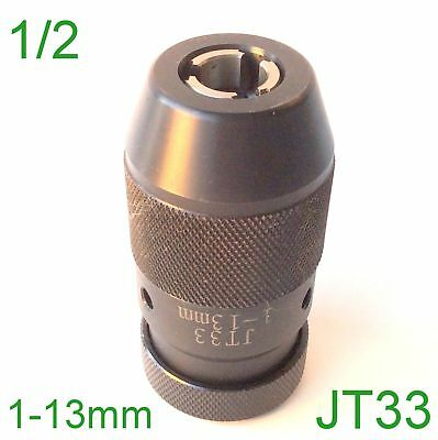 "1 pc Keyless 1/32""-1/2"" Drill Chuck Self Tighten With JT33 33JT Mount for CNC"
