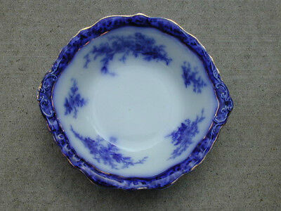 ANTIQUE serving bowl FLOW BLUE old TOURAINE ENGLAND from ESTATE