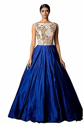 Women's Designer Blue & White lehenga with Embroidery
