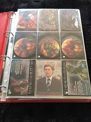 Topps Marvel Comics Spider-Man 1 Movie Cards Complete Set Plus All Chase + Extra