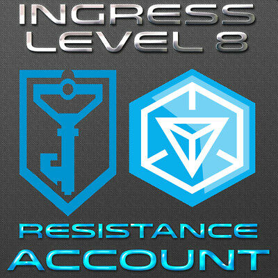 Ingress L8 Resistance Account With Gifts