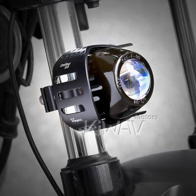 "Magazi 3"" round fog lamp black aluminum bracket H3 12V 55W for Moto Guzzi xPAIR"