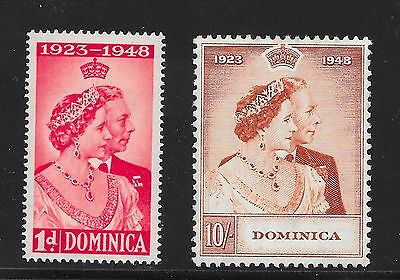 Dominica Sg 112-113 Silver Wedding A-24