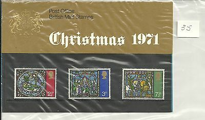 Great Britain Christmas Post Office Pack 1971 Sg Pp35