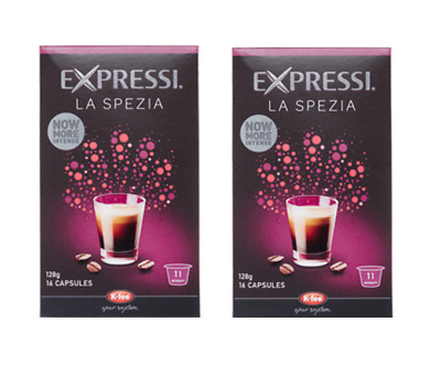 32 Capsules (2 boxes) Aldi Expressi Coffee Pods La Spezia - Intensity 11
