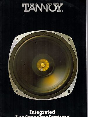 Tannoy Integrated Loudspeaker Systems Brochure 1978  3141F