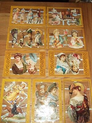mamelok scrap reliefs  Job Lot  x 9 complete sheets  rare items (lot B)