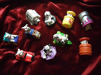 Disney 10 x Dalmation Dog Dogs Collectables 1996 Riding Things and Inside Things