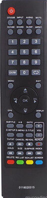 Replacement Teac Remote Control 0118020315 - Lcdv2656Hdr Lcdv3256Hdr Lcdv2681Fhd