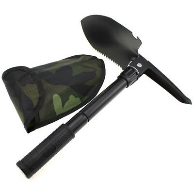 Packable Folding Camping Shovel Hiking Emergency Tool Kits Accessories
