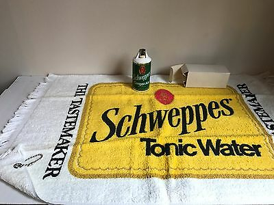 SCARCE- Schweppes Can Lighter and Golf/Bar Towel