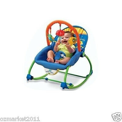 Fashion Blue Comfortable Security Baby Swing Chair/Rocking Chair/Deck Chair AVA