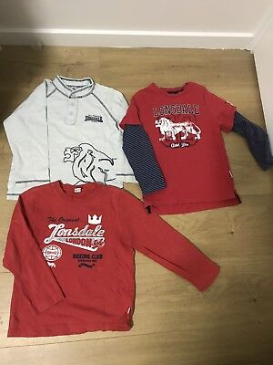 LONSDALE 3 x long sleeves tops , Size 4, VGUC