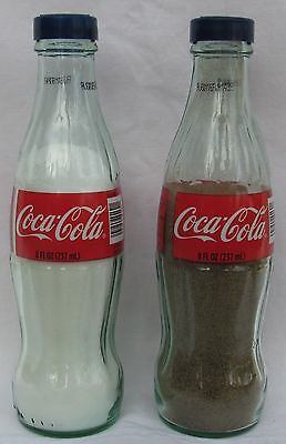 Coca-Cola Classic New Red Label Coke Bottle Salt & Pepper Set Shakers Bottles