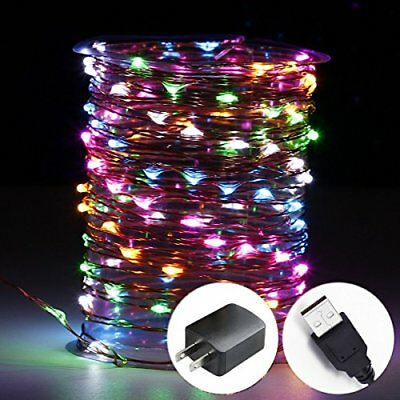 Innotree LED Fairy Lights Waterproof String Lights USB Plug In for Bedroom In...