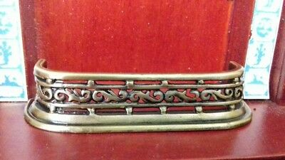 Dolls House Miniatures Accessory 1/12 Scale Antique Fireplace Fender New D1961