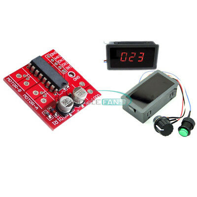DC12V 24V Max 8A Motor Driver Module 2.5A L298N PWM Speed Controller Display