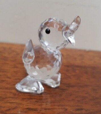 Genuine Swarovski Crystal Quacking Duck - Stood with Mouth Open VGC