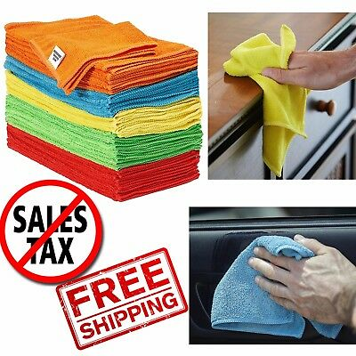 Microfiber Cleaning Cloth Set of 50 Towel Rag Car Polishing Detailing No Scratch