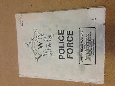 Williams Police Force Pinball Operations manual.