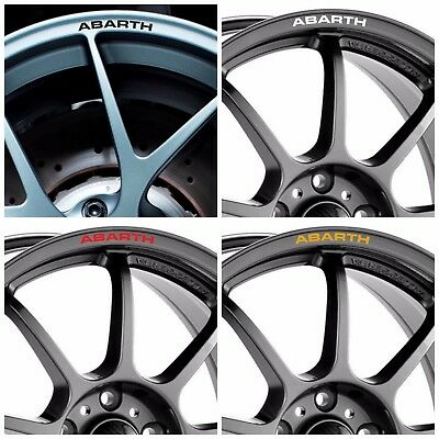 x8 Fiat ABARTH Rim Wheel Decals Stickers 500 500C Punto 124 Spider Grande Stilo