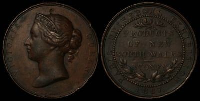 AUSTRALIA 1867 Products of New South Wales Paris Universal Exhibition medal.