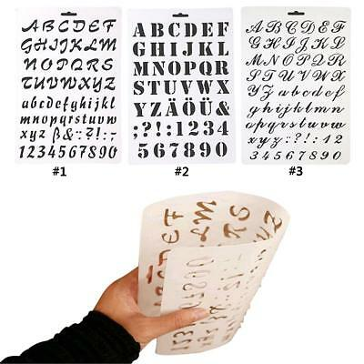 Letter Alphabet Number Layering Stencils Painting Scrapbooking Paper Cards FB