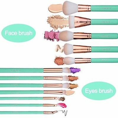 Makeup Brush Set, Soft Synthetic Bristles Make Up Powder Blush Contour Eyeshadow