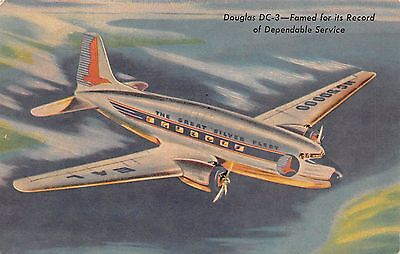 Eastern Airlines Great Silver Fleet DC-3 Constellation etc lot of 3 postcards