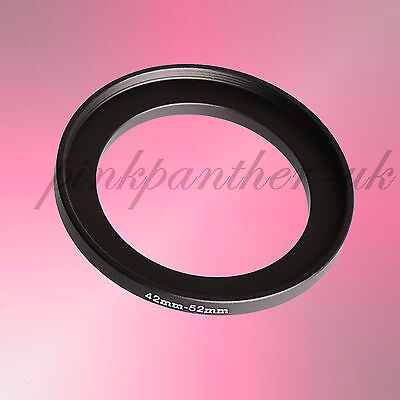 42mm Lens Thread to 52mm Filter Step Up Ring Adapter 42mm-52mm 42-52 42-52mm