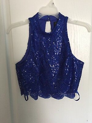 Prom Homecoming Dress Size 5 - Jcpenney Love Reign Blue Two Piece