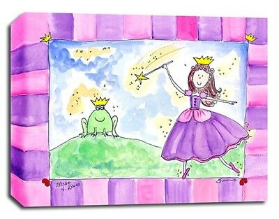 Princess Frog Fairy, Prints or Canvas Wall Art Decor, Kids Bedroom Baby Nursery
