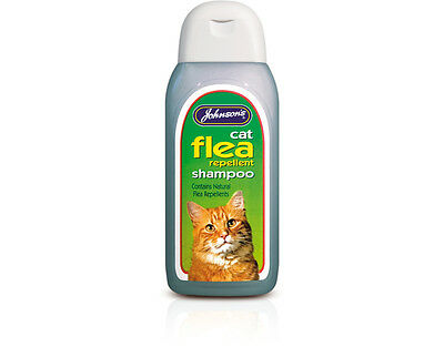 Johnsons Veterinary Cat Flea Cleansing Shampoo 125ml