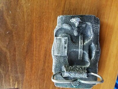 "MEN'S 1978 ""PETERBILT"" TRUCKS Antiqued Pewter BELT BUCKLE~Made in U.S.A."