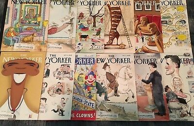 Lot of 12 Issues THE NEW YORKER Magazine 2012- 2013 VG Condition!