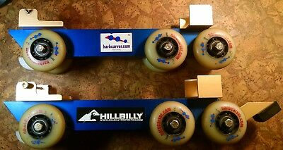 HARBCARVER Hillbilly Rollers for SKI BOOTS needs minor work WHEELS ROLL PERFECT