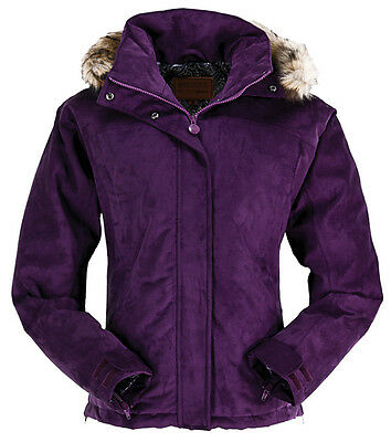 NEW Outback Clothing Co. Ladies Gold Cup Suede Jacket - Plum - M, L