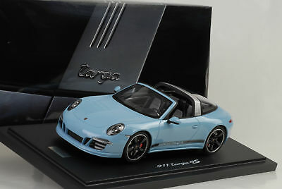 GT Spirit 2015 Porsche 911 / 991 Targa 4S Light Blue Dealer LE of 500 1/18 Scale