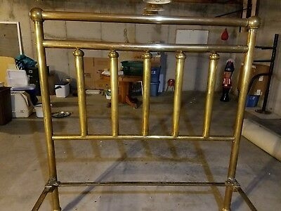 Victorian brass bed, use wil full size matteress