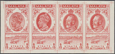 Malaya - 1933/1934 British Army Survey Department KGV. $15 red essay of unissued