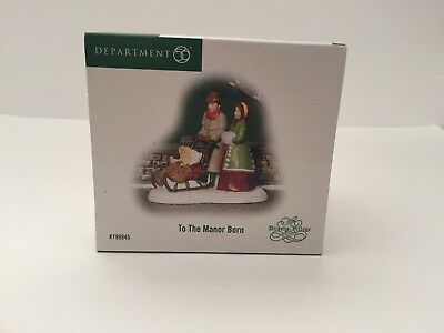 Dept 56 Dickens Village - To The Manor Born