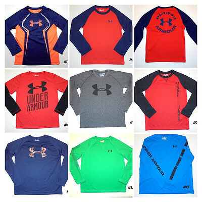 Boys Under Armour Long Sleeve Shirts all- sizes and styles -Click Size for list