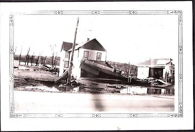 Vintage Photograph 1936 Moxie Soda Advertising Sign Flood Anderson Indiana Photo