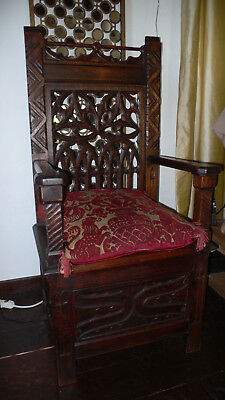 Gothic Style Throne Chair, 1890