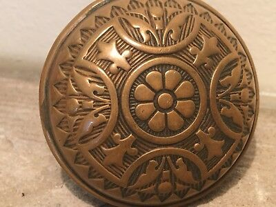 Antique Corbin Bronze Door Knob Handle Ornate