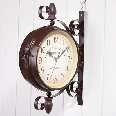 double sided outdoor clock garden station wall clock antique european style