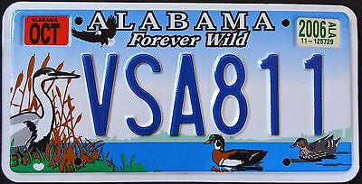 "ALABAMA "" WILDLIFE - FOREVER WILD "" EAGLE - HERON "" AL Specialty License Plate"